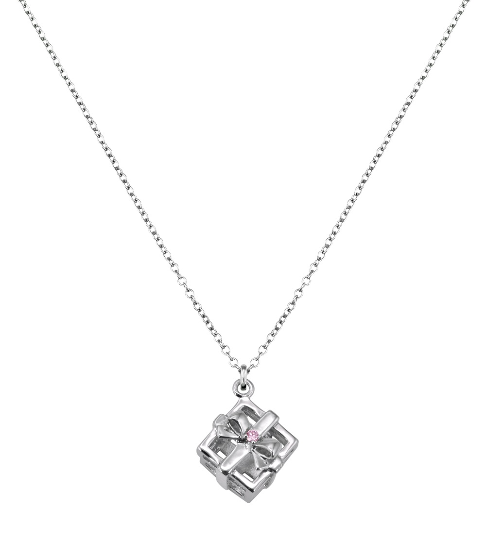Solvil et Titus Gift Box Necklace, Sterling Silver