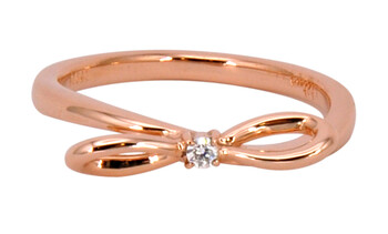 Solvil et Titus 16.2mm Bow Ring, Sterling Silver, Rose-Gold Tone Plated