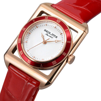 The Letter 3 Hands Quartz Leather Watch