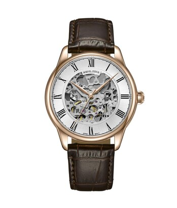 Enlight 3 Hands Mechanical Leather Watch