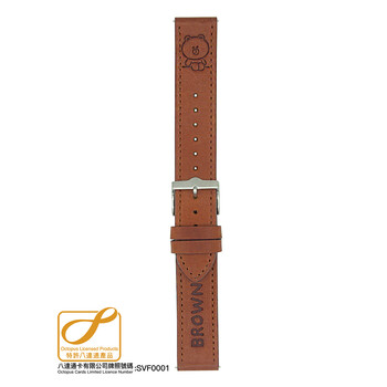 Citykeys 20 mm Brown Leather Octopus Strap(SM20-L72)