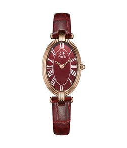Once 2 Hands Quartz Leather Watch