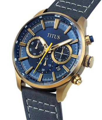 Saber Chronograph Quartz Leather Watch