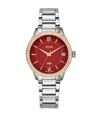 「粼光」系列三針日期顯示自動機械不鏽鋼腕錶