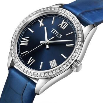 Fair Lady 3 Hands Quartz Leather Watch