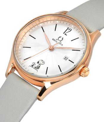 Solvil et Titus x Peanuts 3 Hands Date Quartz Leather Watch