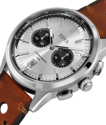 Bravo Chronograph Quartz Leather Watch