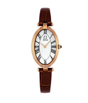 Once 2 Hands Quartz Leather Watch