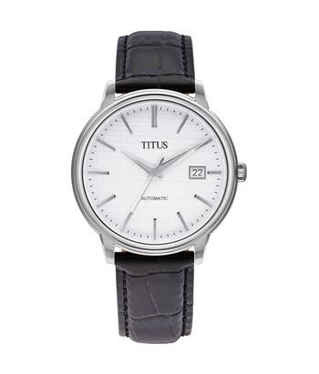 The Dawn三針日期顯示自動機械皮革腕錶