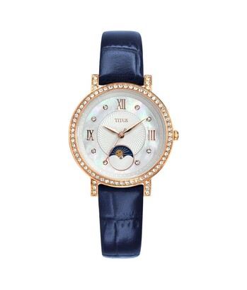 Fair Lady 3 Hands with Day Night Indicator Quartz Leather Watch