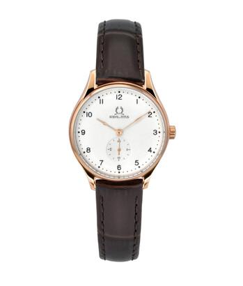 Muse小秒針石英皮革腕錶